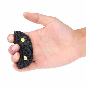 Archery Finger Guard Protection Pad Glove Tab Bow Arrow Cow Leather Hunting Shooting Protector Sports 4