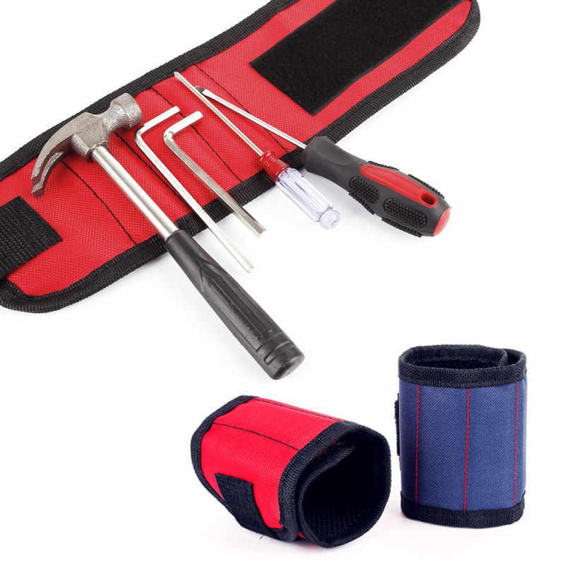 磁気ブレスレットポータブルツールバッグ電気技師リストバンドネジ修復ツール車のアクセサリーネジ爪ドリル吸着ツール