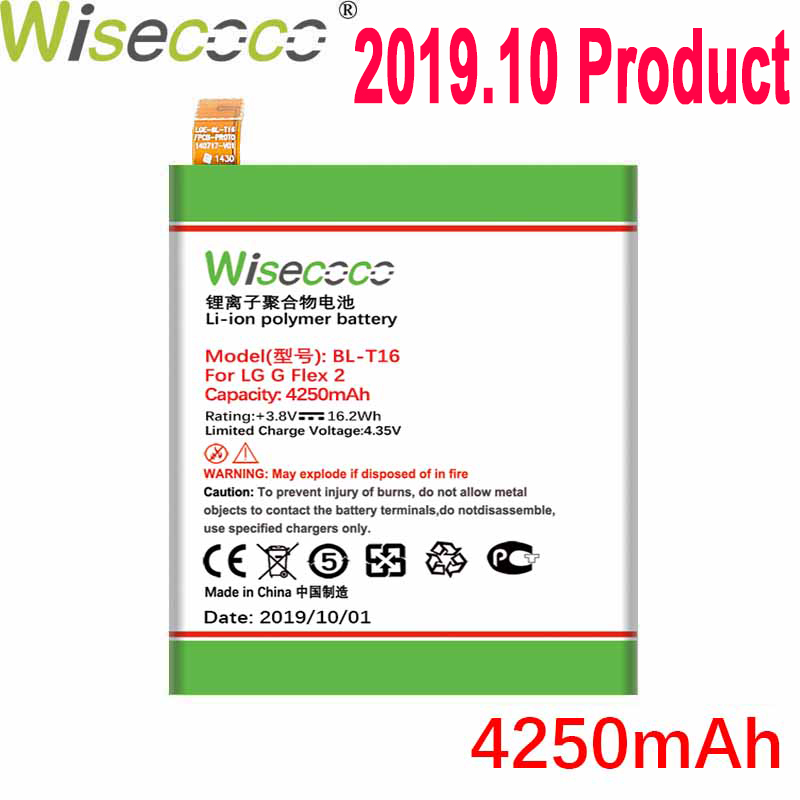 Wisecoco 4250mAh BL-T16 <font><b>Battery</b></font> For <font><b>LG</b></font> H955A H959 G Flex 2 Vu <font><b>4</b></font> Vu4 H950 LS996 H955 US995 Phone Latest Production+Tracking Code image