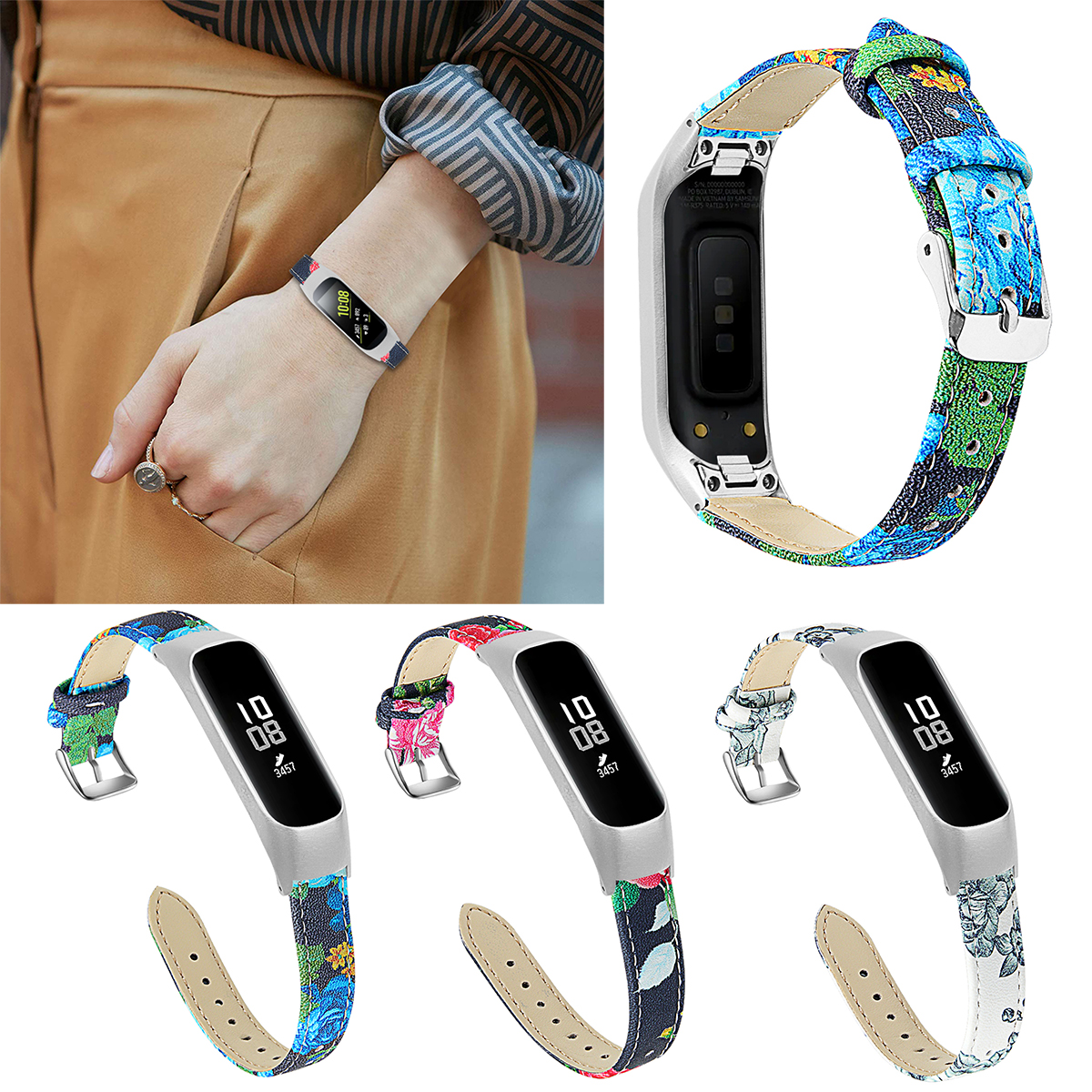 2019 Stainless Steel Watch Strap Wrist Band Strap For Samsung Galaxy Fit-e R375 Smart Bracelet Replacement Watch Band Strap