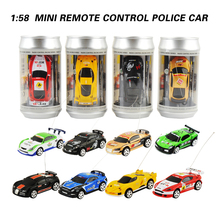 8 Colors 20Km/h Coke Can Mini RC Car Radio Remote Control Micro Racing Car 4 Frequencies Toy For Kids Gifts RC Models Hot Sales