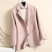 Jacket Coat Cashmere Double-Faced Winter Short Women Outwear Female Slim Autumn Wool