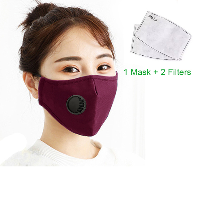 KN95 Mouth Mask PM2.5 Cotton Unisex Anti Dust Mask Activated Carbon Filter Windproof Mouth-muffle Bacteria Proof Flu Face Masks 3