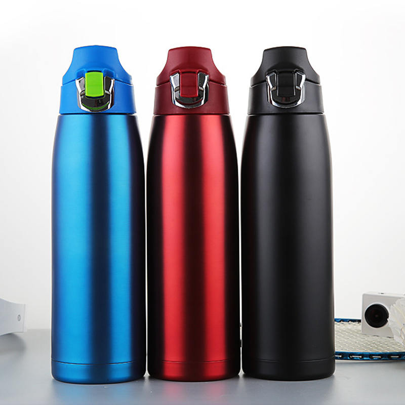 900ml Stainless Steel Vacuum Insulated Water Bottle Flask Thermoses Sport GYM UK