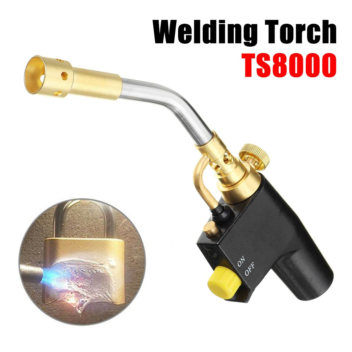 Brazing Gas Bernzomatic Soldering TS8500 Style Steel Mapp Blow Welding Torch Stainless BBQ Camping Map TS8500 Welding Kit Torch