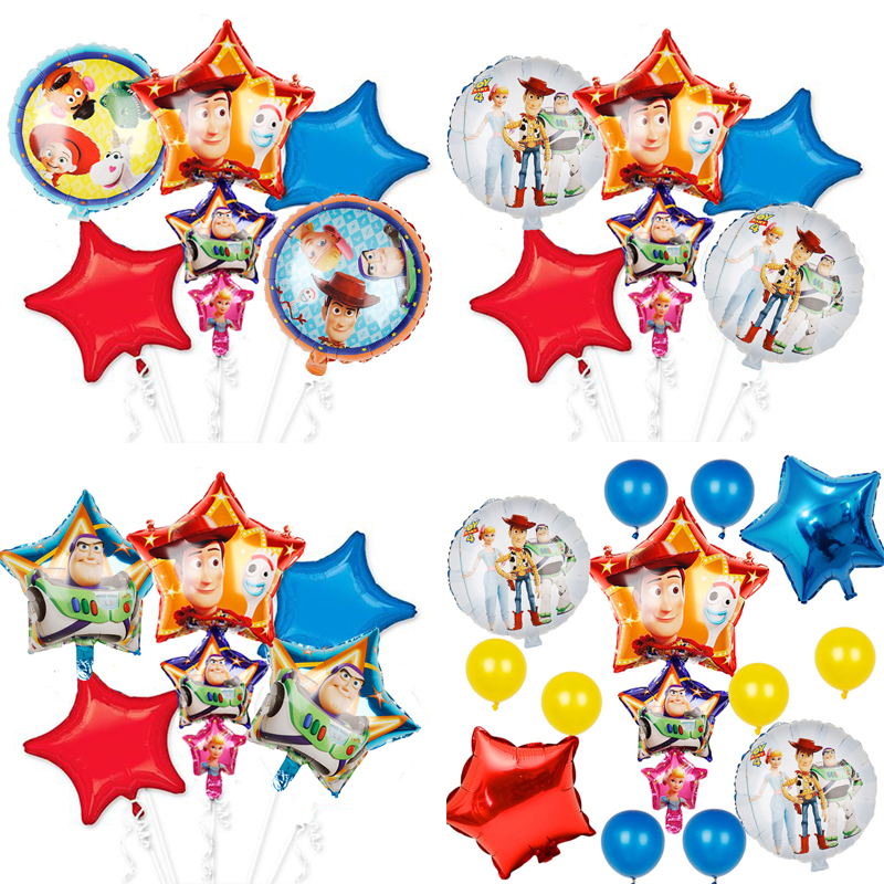1set 2019 Toy Story Buzz Light year balloons cartoon foil helium 32 Inch Number Blue balloons toy story happy birthday balloons