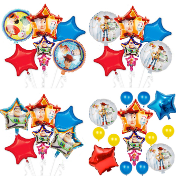 1set 2019 Toy Story Buzz Light year balloons cartoon foil helium 32 Inch Number Blue balloons toy story happy birthday balloons image