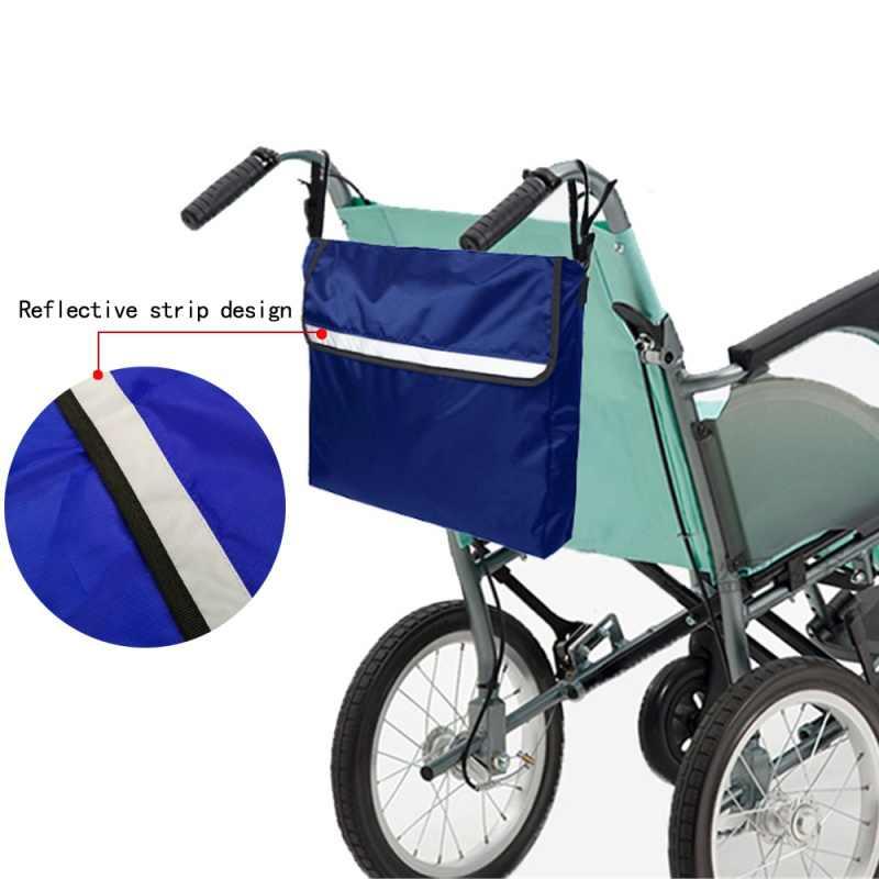 Cadeira de rodas Mochila Saco Holdall Armazenamento Bolsas de Compras De Armazenamento Quadro Andarilhos Walker Scooters Da Mobilidade Com Faixa Reflexiva