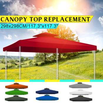 New Top Cover Outdoor Gazebo Garden Marquee Tent Replacement Sun Shade Outdoor Backpacking Canopy Tent