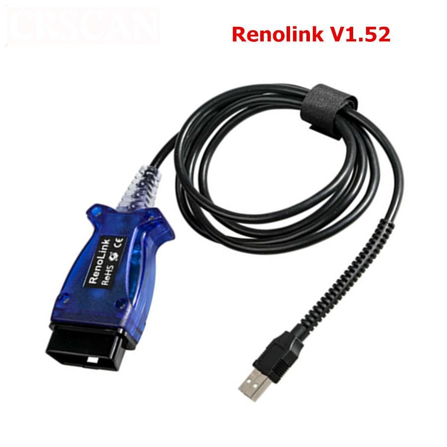 Otomobiller ve Motosikletler'ten Elektrik Test Cihazları ve Test Uçları'de Renolink Obd2 Renault Ecu Programcı V1.52 title=