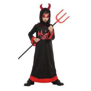 Image 3 - Umorden مخيف الأحمر القرن الشيطان Devilkin ازياء للأطفال طفل بنين بنات شيطان زي تأثيري فستان بتصميم حالم رداء هالوين