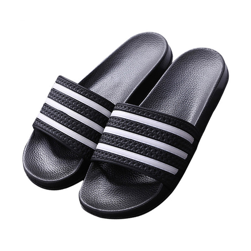 2019 Summer Slides Men Slippers Stripe Home Bathroom Slippers Outdoor Sandals Beach Flip Flops Sports Shoes Leisure Men's Shoes