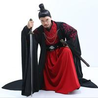 Top grade Fabric Emperor kings princes Kungfu Martial arts Ghost clan men in black suit Hanfu film and TV cosplay fine quality