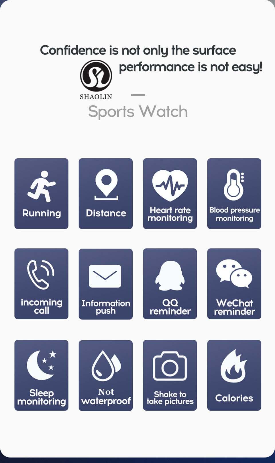 Unisex Smart Exercice Watch-Multifunction