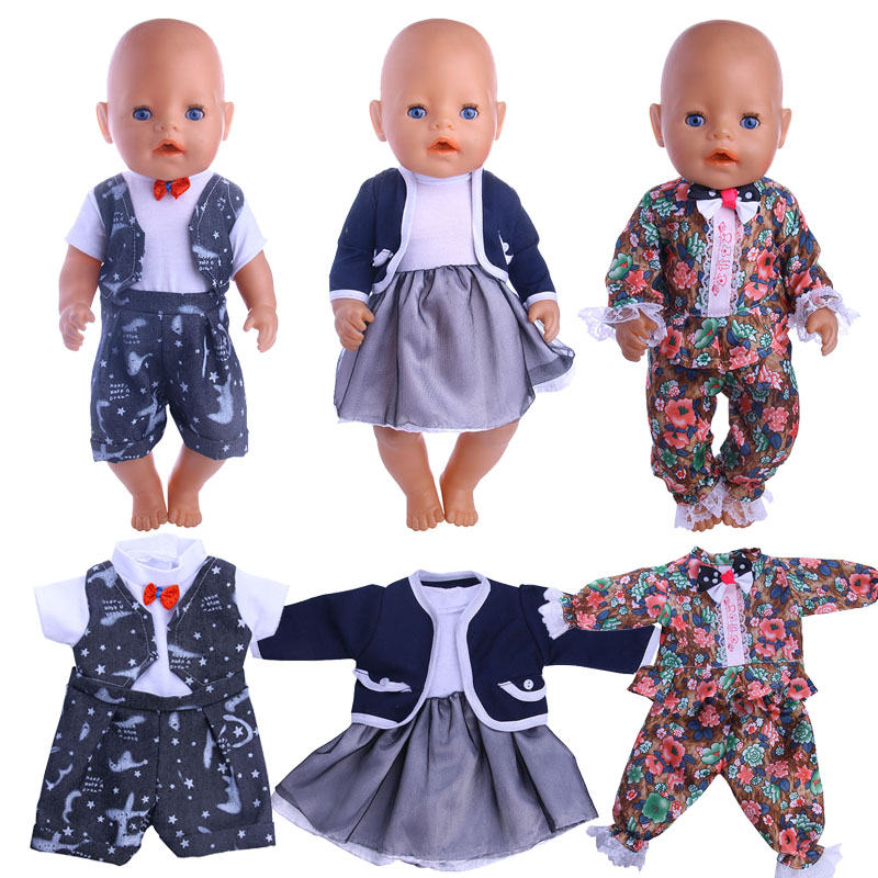 Doll 10 Styles Handsome Set For 18 Inch American&43 Cm Born Baby Doll Clothes Accessories Generation Birthday Girl's Toy Gift