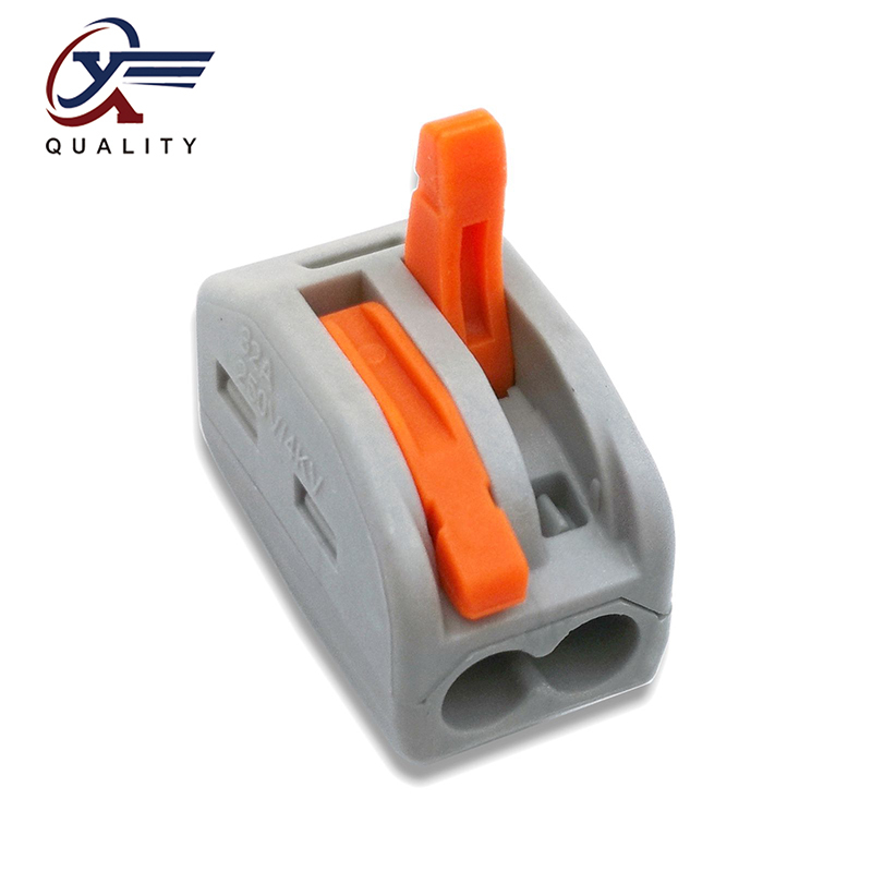 30/50/100 PCS/lot PCT-212  222-212 Mini Fast Wire Connectors Universal Compact Wiring Connector Push-in Terminal Block