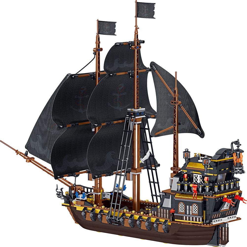 Детские игрушки корабль модель пирата создатель вечность Пираты Карибского моря корабли строительные блоки идеи серии лодочные кирпичи дл...