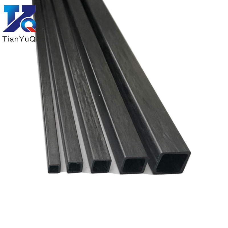 4pcs Carbon Fiber Square Tube 3mm 4mm 5mm 6mm 8mm 10mm (length 500mm) Square Tube / Carbon Fiber Square Rod / Carbon Square Tube