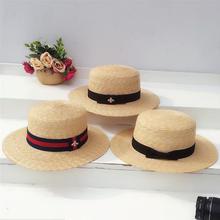Ladies Sun Fedora Hats Straw Hat European and American Retro Gold Braided Hat Female Sunshade Flat Cap Visors Hats