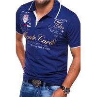 ZOGAA, мужские рубашки поло с коротким рукавом, модные, персональные, с буквенным принтом, шесть цветов, 4xl Размер, брендовые, качественные, повс...