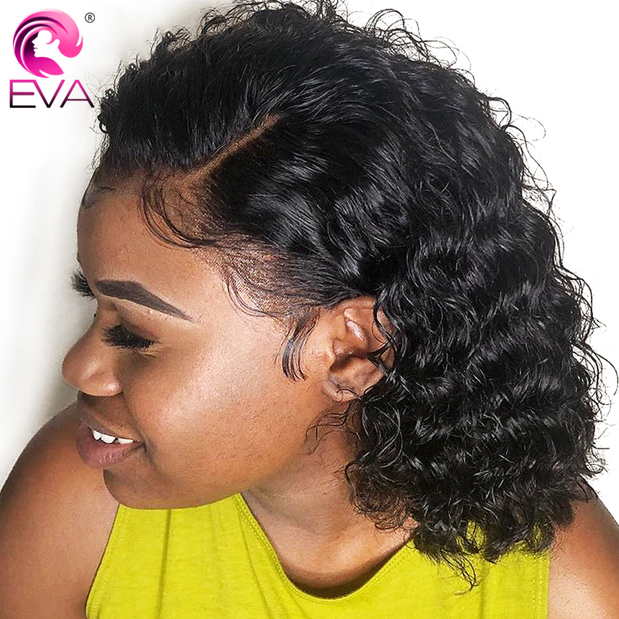 Eva Hair Short Bob Lace Front Human Hair Wigs Pre Plucked With Baby Hair Brazilian Curly Lace Front Wig For Black Women Remy Wig