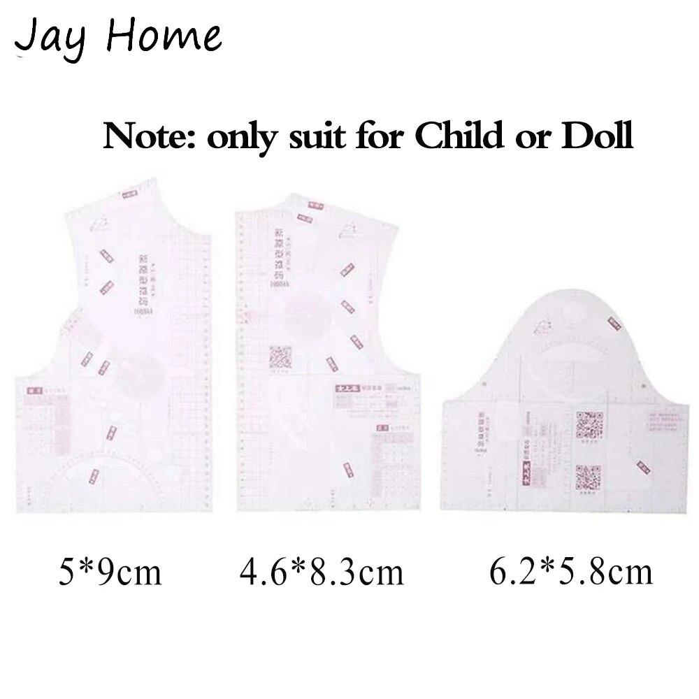 3 шт. мини 1:5 дизайн одежды чертеж линейки шаблон портные линейки шаблон изготовление швейных мерок линейка DIY Швейные принадлежности