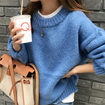 Sweater Women 2020 Autumn Winter Fashion Solid O Neck Pullover Sweaters Korean Style Knitted Long Sleeve Jumpers Casual Tops недорого