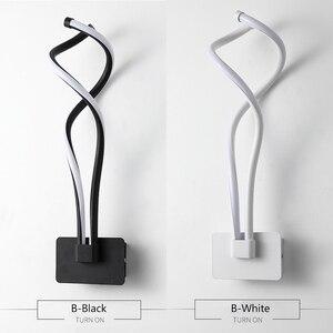 Image 5 - الحديثة الحد الأدنى مصابيح الحائط غرفة المعيشة غرفة نوم السرير 16 واط AC85V 265V LED الشمعدان مصباح أبيض أسود الممر الإضاءة ديكور ZBD0030