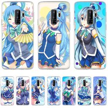 Phone Case For Samsung S3 S4 S5 S6 S7 Edge S8 S9 S10E S10 Plus Note 8 9 M10 M20 M30 M40 Cover Ni Shukufuku Aqua Kono Subarashii(China)