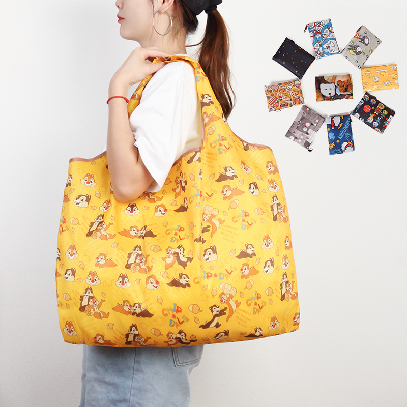 Pouch Tote Handbag Grocery Eco Folding Travel Animal Shoulder Polyester Large-Size Reusable