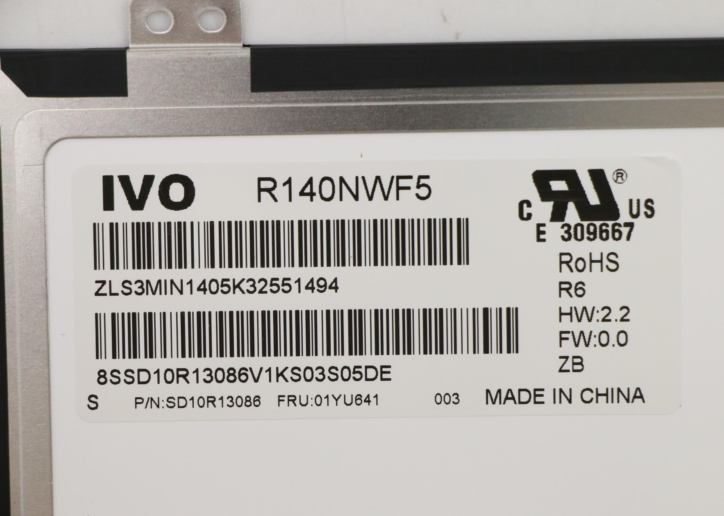 """14"""" inch screen is suitable for Lenovo thinpkda A485 (Type 20MU, 20MV) Laptop FRU: 01YU641 100% packaged and tested 4"""
