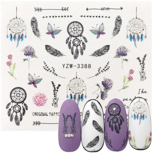 Купить morixi водные наклейки 3d маникюр украшение цветок растение картинки цена
