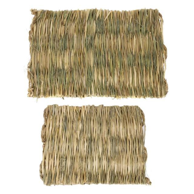 Rabbit Grass Chew Mat Small Animal Hamster Guinea Pig Cage Bed House Pad 5