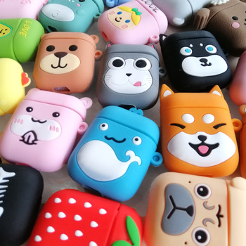 For Airpods Case Silicone dog Cartoon Cover for Air pods Cute Earphone Case 3D Headphone case for Earpods Accessories 3d lucky rat cartoon bluetooth earphone case for airpods pro cute accessories protective cover for apple air pods 3 silicone