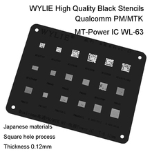 WL 63 MT6357V MT6357CRV MT6358W MT6371P MT6355W MT6370P MT6356W Power Mt Pm Ic Chip Bga Reballing Stencil