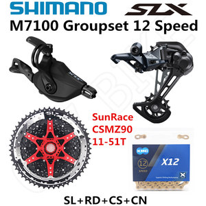 Image 1 - SHIMANO DEORE SLX M7100 Groupset MTB Mountain Bike 1x12 Speed 51T SL+RD+CSMZ90+X12 M7100 shifter Rear Derailleur