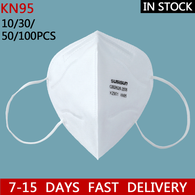 N95 Mask 20/50/100pcs 5 Layer Flu Anti Fog kN95 Protective Masks ffp2 Respirator PM2.5 Safety dust-proof breathable anti-fog