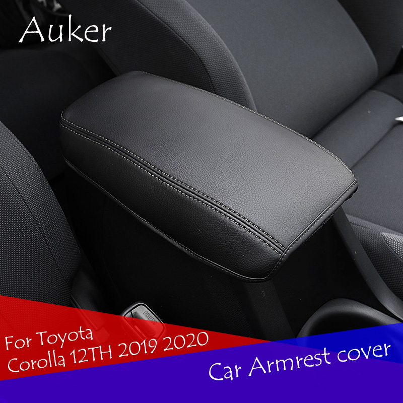 Car Armrest Console Cover Cushion Support Box Armrest Top Matte Liner Car Style For Toyota Corolla 12TH 2019 2020