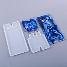 Molde de resina Epoxy de cristal para bricolaje, soporte de teléfono de silicona móvil, molde Manual para espejo para Resina epoxi