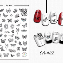 3D Nail Sticker Girl Manicure Decals Decoration Stickers for Nails Mandala Butterfly