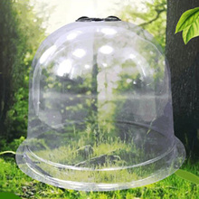 5pcs Garden Cloche Plastic Protective Plants Bells Dome Breathable Covers Thermal Insulation Moisturize for Succulent Greenhouse