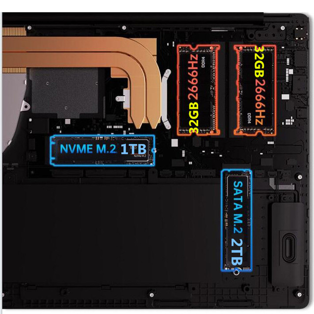 DDR4 RAM 64GB 3TB SSD Ultrabook 2.4G/5.0G Bluetooth Ryzen AMD Athlon Gold 3150U with Radeon Graphics windows 10 Pro Metal laptop 6