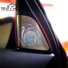 자동차 빛나는 트위터 커버 BMW F10 F11 5 시리즈 LED 글로우 램프 스피커 케이스 앰비언트 라이트 나이트 비전 트레블 트럼펫 뚜껑