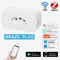 16A brasile WiFi Smart Power Plug presa intelligente con Timer Monitor energia Tuya Voice telecomando funziona per Alexa Google Home