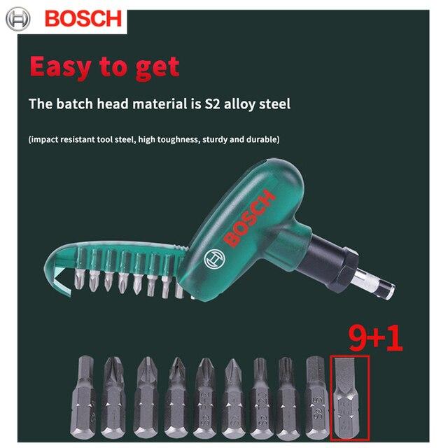 Bosch Screwdriver  9 in 1 Ratchet Screwdriver Set Home High Precision Bite Cartridges Screwdriver Repair Tools Smart Home 5