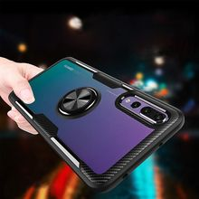 For oneplus 7 with Magnetic Vehicle Support Ring case Transparent Invisible finger ring bracket