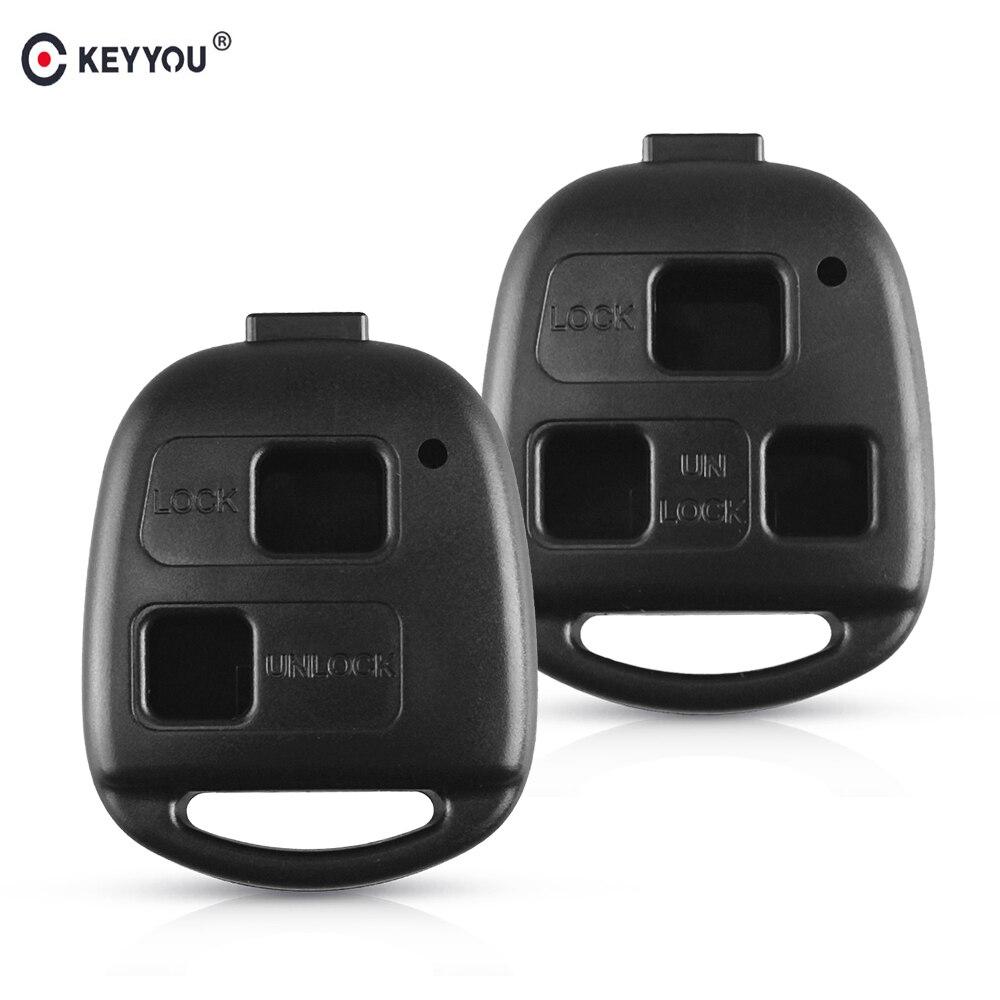 KEYYOU No Blade 2/3 BT Remote Car Key Shell Case For Toyota Land Cruiser YARIS CAMRY RAV4 For Lexus RX300 ES300 LS400 GX460
