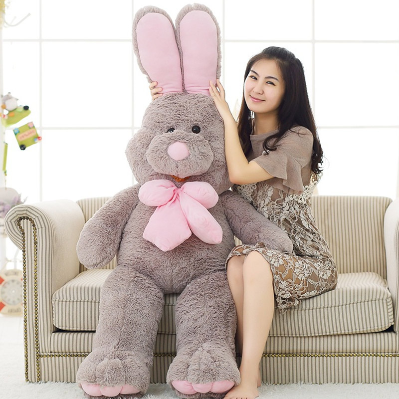100cm American Big Rabbit Plush Doll Soft Appease Toys For Valentine's Day Gifts AN88
