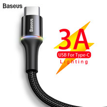 Baseus USB Type C Cable 3A Fast Charging For Samsung Xiaomi Mobile Phone Usb Wire Charger Data Cable 3m Quick Charge USB C Cable(China)