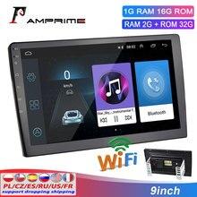 """AMPrime 9 """"radio samochodowe z androidem 2 Din odtwarzacz multimedialny nawigacja GPS Auto Stereo WIFI odtwarzacz wideo Bluetooth z kamera cofania"""